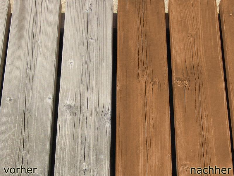 Holz Lasieren Weiß Vorher Nachher